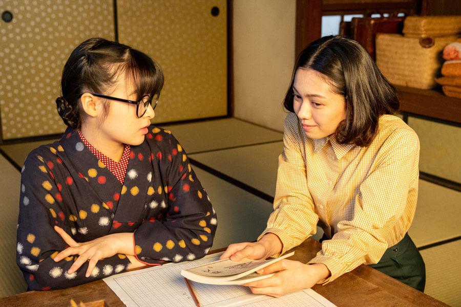 第66回より、音(右:二階堂ふみ)と梅(森七菜)(C)NHK