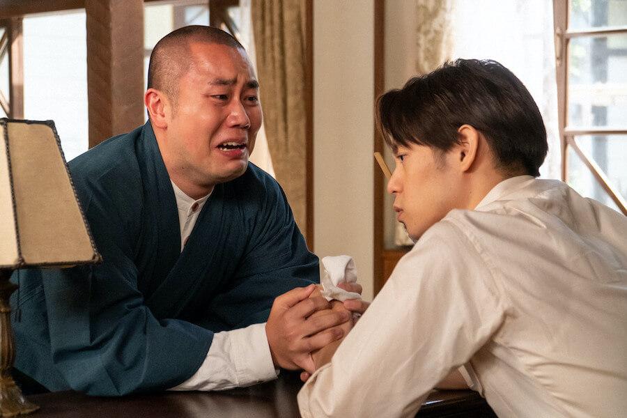 第78回より、裕一(窪田正孝)に助けを求めにやってきた五郎(岡部大)(C)NHK