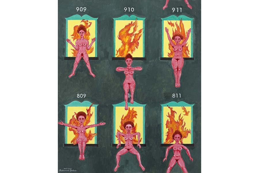 《その後の天国と地獄》2009年 横尾忠則現代美術館蔵