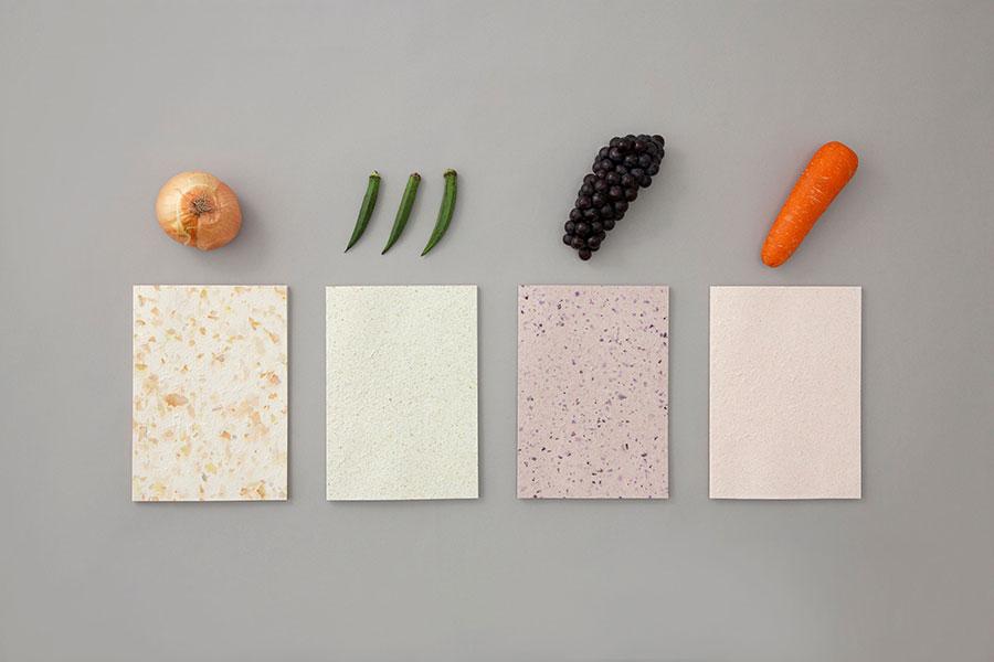 「Food  Paper」の野菜と果物からできたノート