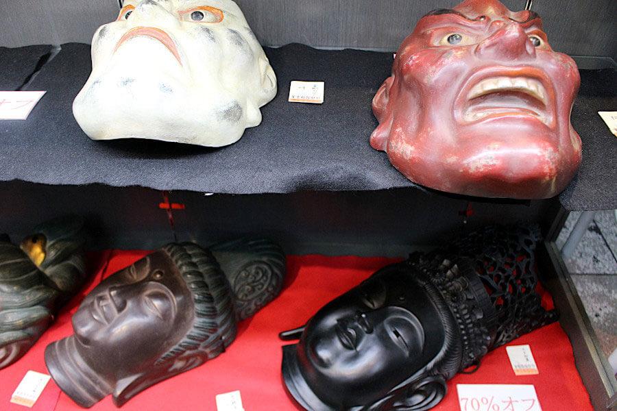 仏像のお面も10月26日から、売り切れゴメンの9割引に