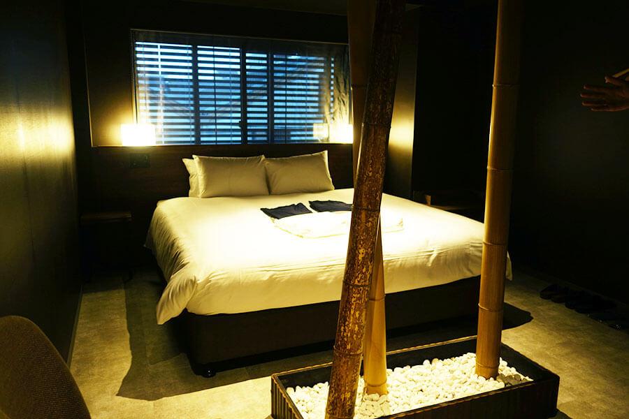 「aeru room」の京銘竹の部屋