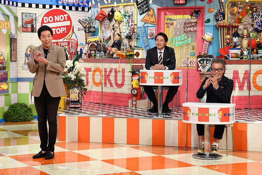 岡村結婚の舞台裏を話す今田耕司(左) (C)ytv