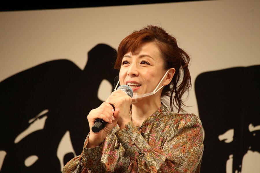 『関西演劇祭』の実行委員長に就任した羽野晶紀(10月11日・大阪市内)