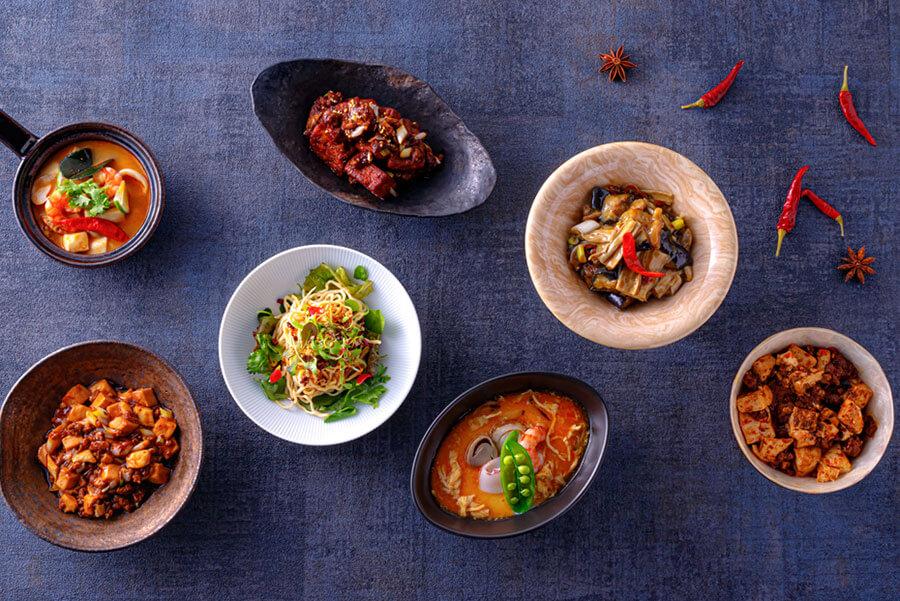花梨伝統麻婆豆腐(左下)以外は、今回のために考案したメニュー