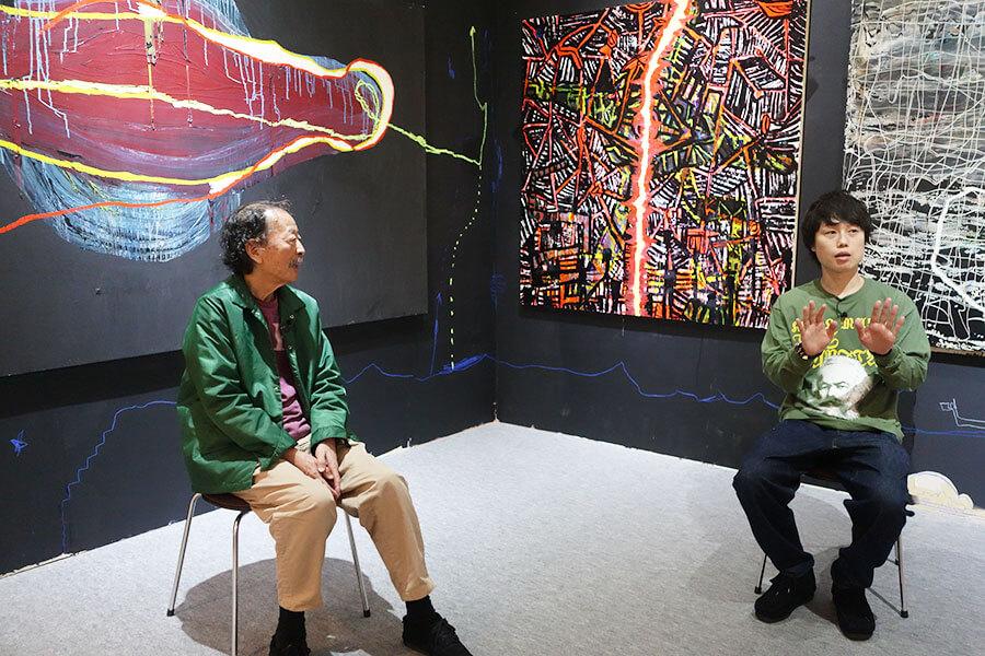 インタビュー後は、黒田征太郎氏が「すごいしゃべりやすかった」と笑顔に