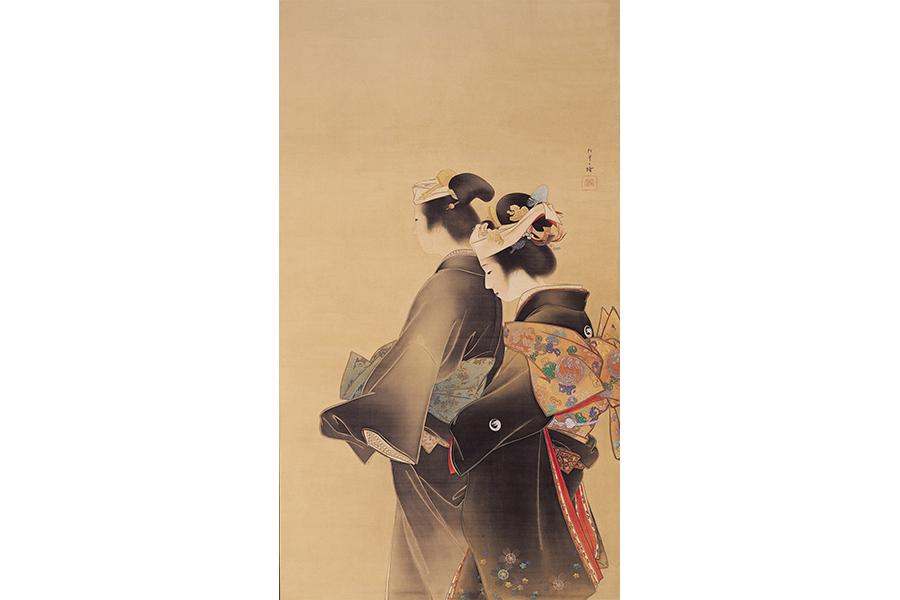 上村松園《人生の花》1899年 京都市京セラ美術館蔵