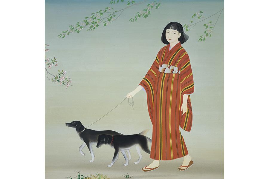 菊池契月《散策》1934年 京都市京セラ美術館蔵