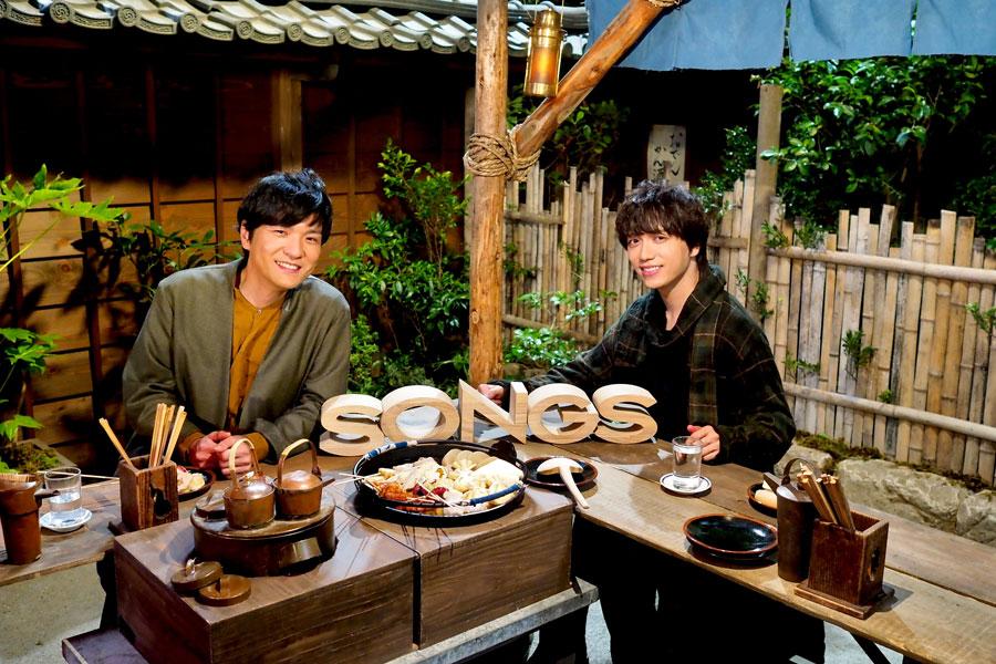 『SONGS』で共演する森山直太朗(左)と山崎育三郎 (C)NHK
