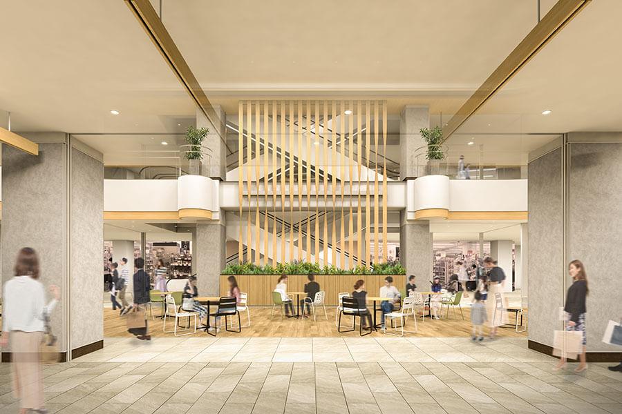 1階には、購入したデリなどをイートインできるレストスペースも(イメージ)