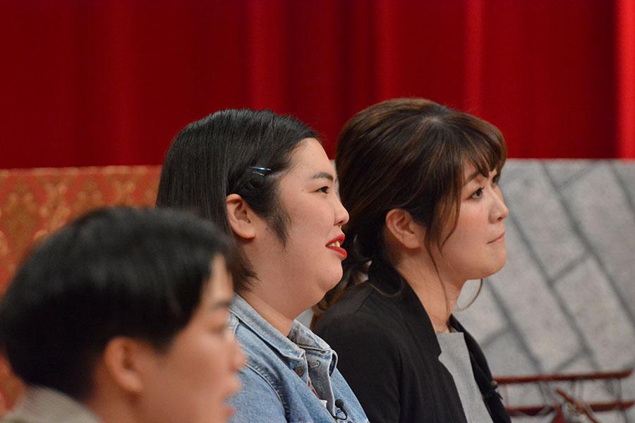 紅しょうがの熊元プロレス(左)と稲田美紀 (C)ytv