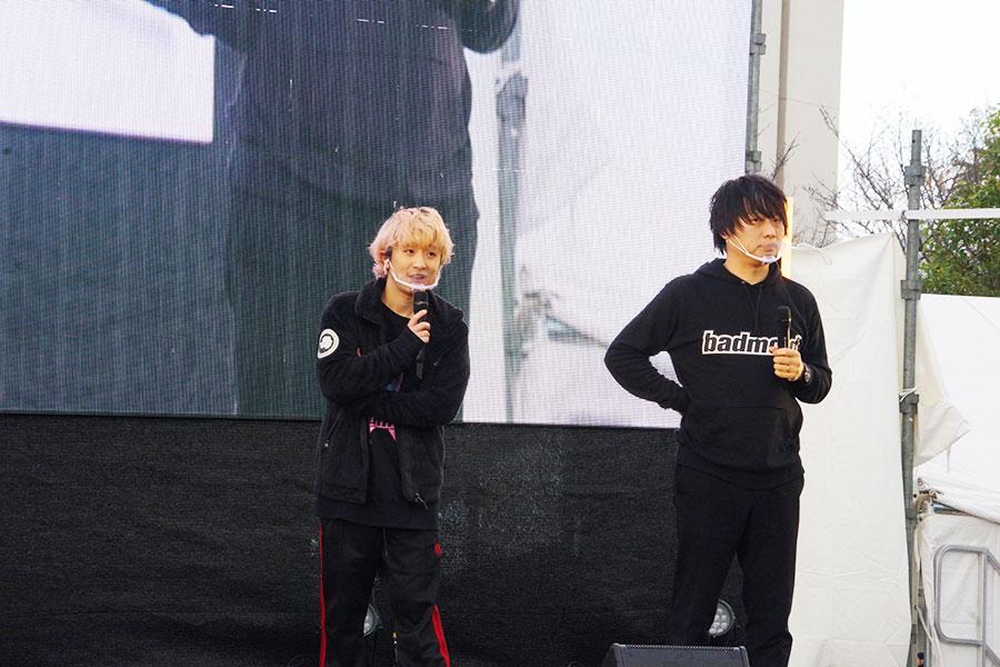 Fukaseと「BAD MOOD」プロジェクトに参加する和田直希監督(29日撮影)