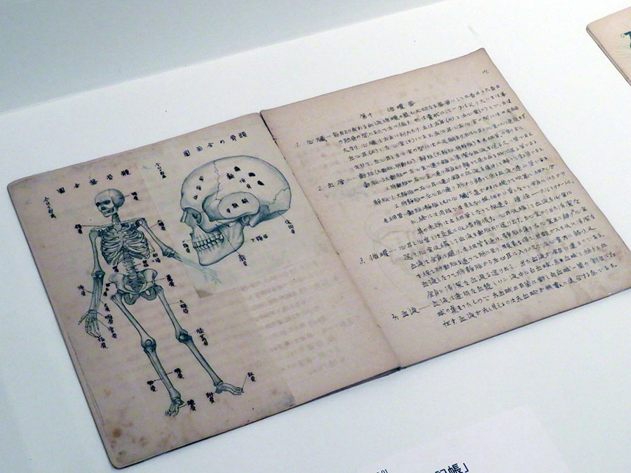 「理科筆記帳」 1918-20年頃 今竹が学生時代に記したノートの一部。まるで印刷物のようだが、すべて手書き