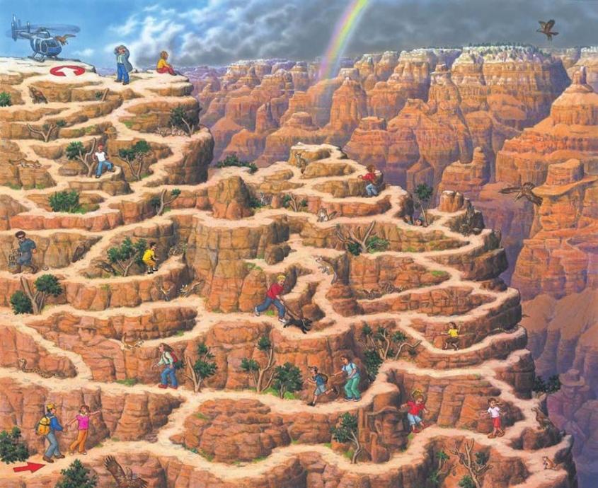 香川元太郎 グランドキャニオン 2006年 『自然遺産の迷路』より