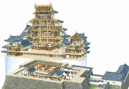 香川元太郎 姫路城天守断面 1995年