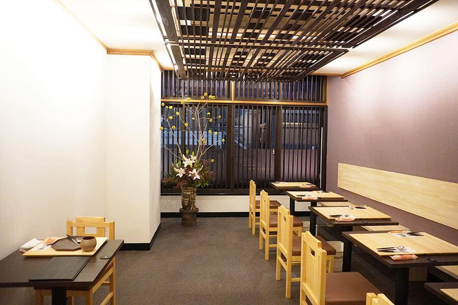 シンプルながら、京都らしい和の空間に