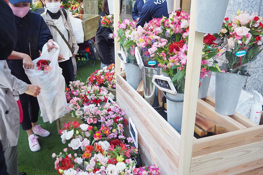 花の無料配布