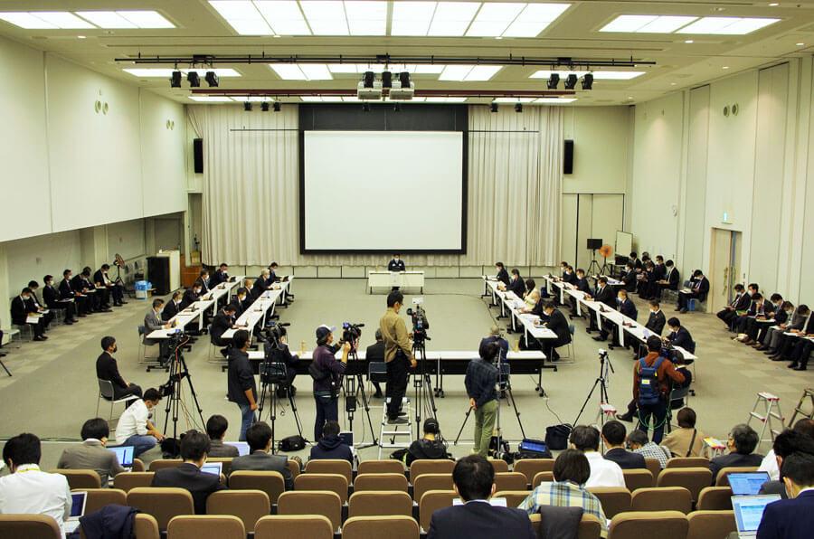 『大阪府新型コロナウイルス対策本部会議』の様子(11月24日・大阪府庁)
