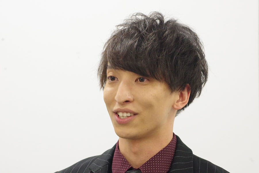 『マインド・リマインド』の会見に出席した三好大貴(10月28日・大阪市内)