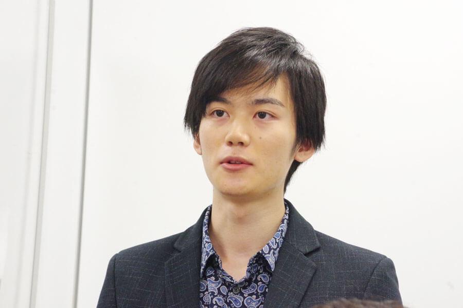 『マインド・リマインド』の会見に出席した田中亨(10月28日・大阪市内)