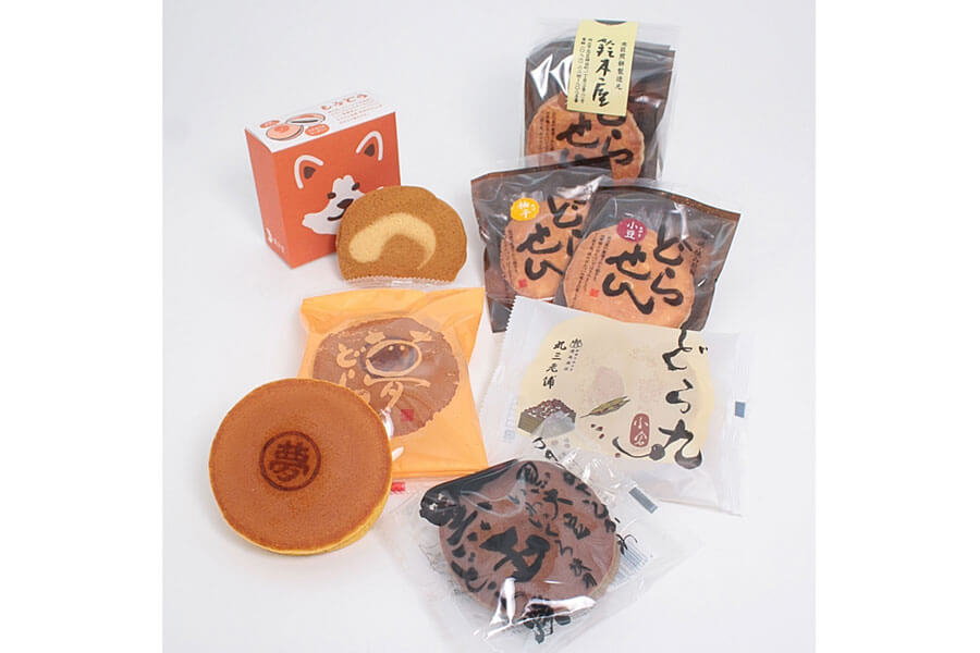 秋田「蕗月堂」など、EC限定のどら焼きセット。写真は「どら焼き食べ比べセットA」1508円