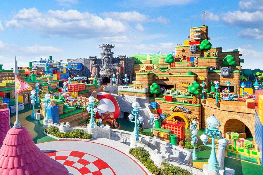 2020年11月30日に公開された「スーパー・ニンテンドー・ワールド」のエリア全景