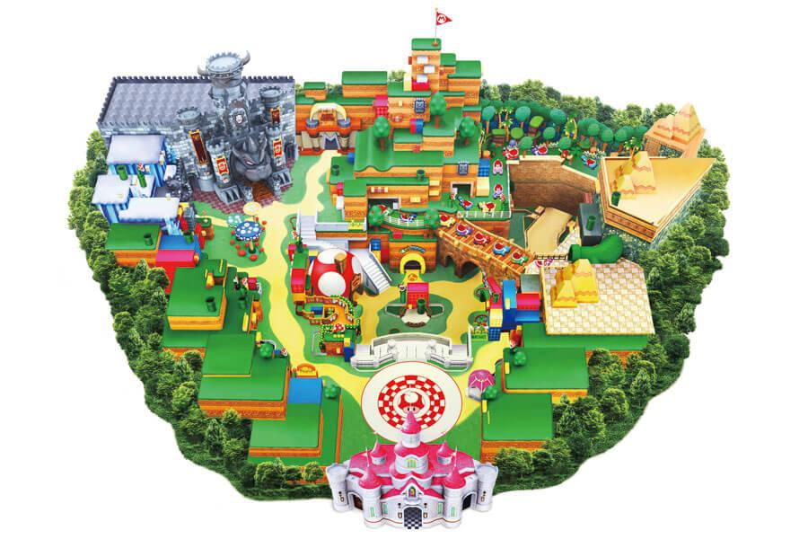 「ユニバーサル・スタジオ・ジャパン」より公表された「スーパー・ニンテンドー・ワールド」のエリアマップ (C)Nintendo.