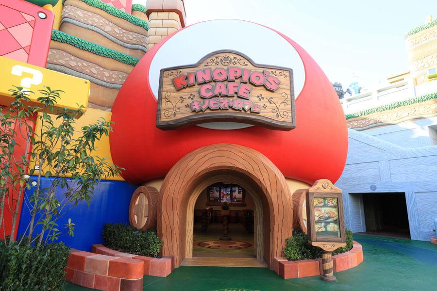 「スーパー・ニンテンドー・ワールド」内のレストラン「キノピオ・カフェ」 (C)Nintendo.