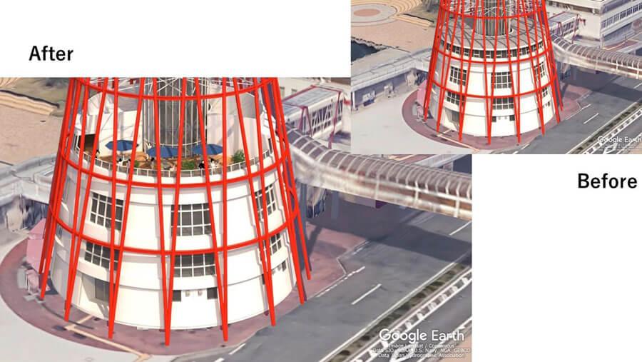 新「神戸ポートタワー」低層部のテラスイメージ。高所恐怖症の人には、こちらがありがたいかもしれない(提供:神戸市)