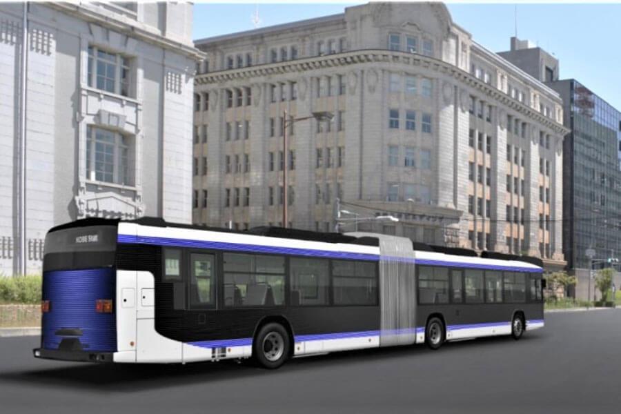 2021年4月から運行を始める、連節バスのイメージ(提供:神戸市)