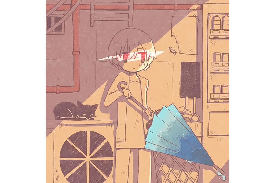 新たに描き下ろされた「雨とペトラ」ジャケット