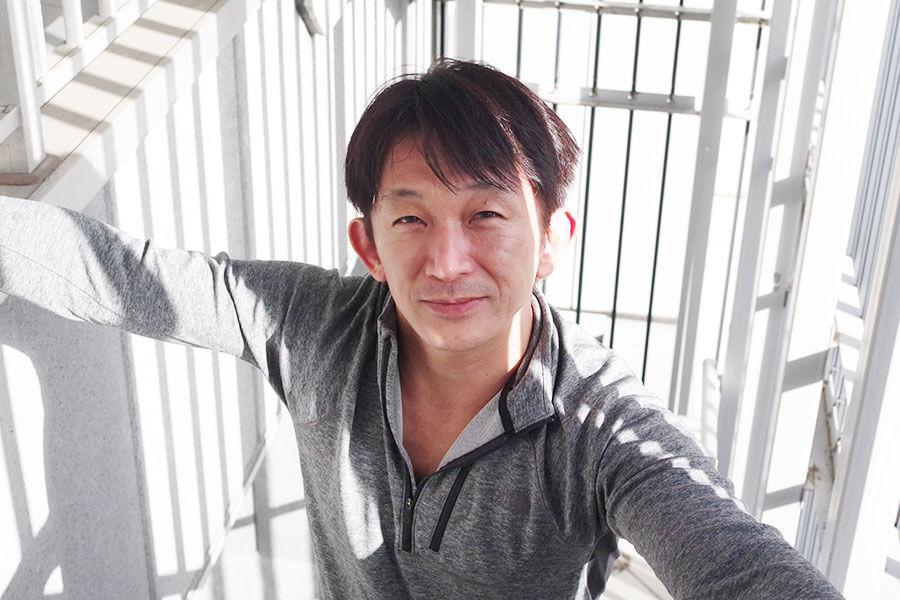 大阪を訪れた谷垣健治監督。香港スタントマン協会(香港動作特技演員公會)のメンバーで、スタントマンとして活躍。2001年に香港映画『金魚のしずく』でアクション監督デビュー