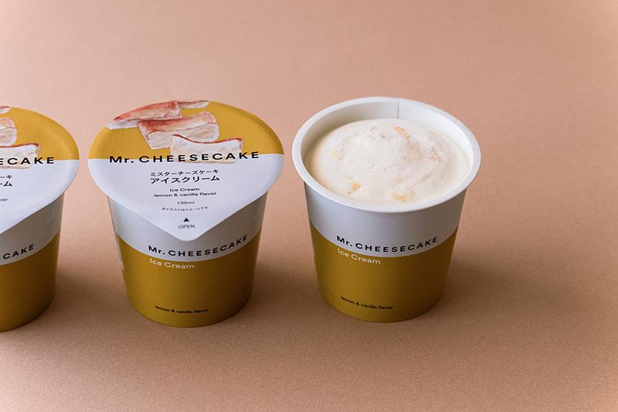 「ミスターチーズケーキ アイスクリーム」(270円)は、定番のチーズケーキをイメージしたアイスに