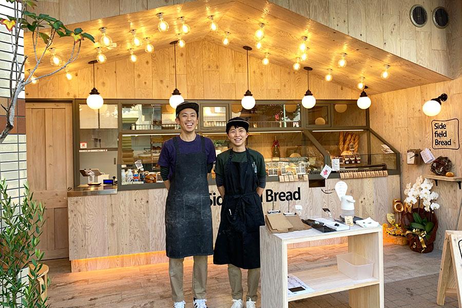 オーナーブーランジェの横畠健さんと奥さまの諒有子さん