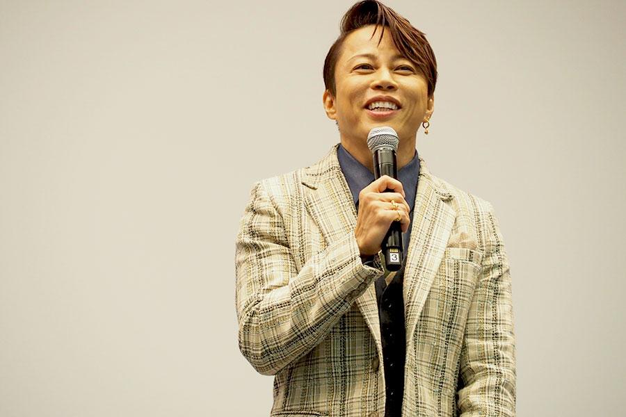 役作りに際し「監督とも何度もお話をさせていただいて、僕なりの岩崎弥太郎像を作りました」と話す西川貴教(3日・大阪市内)