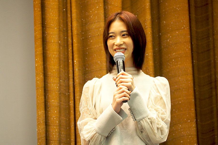 大阪完成披露イベントに登場した森川葵(3日・大阪市内)
