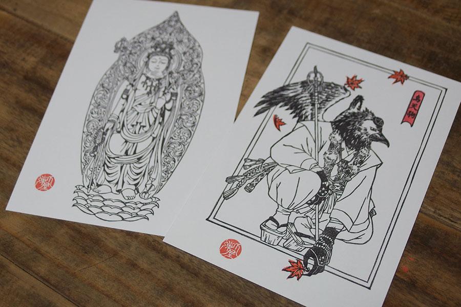 仏像版画のポストカード