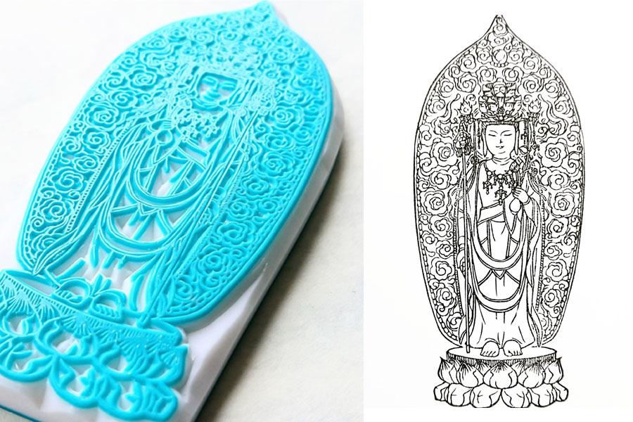 福井県大安禅寺の「正十一面観世音菩薩立像」。特別御朱印に使用されている