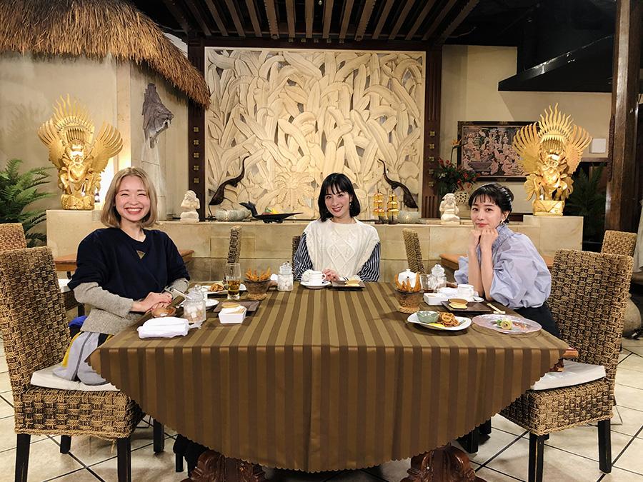 左から、漫画家の鳥飼茜、女優の真飛聖、田中みな実 (c)ktv