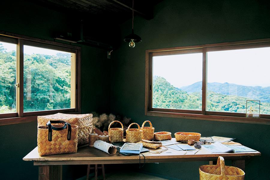 イベント小屋「日々ここにある風景」からの眺め
