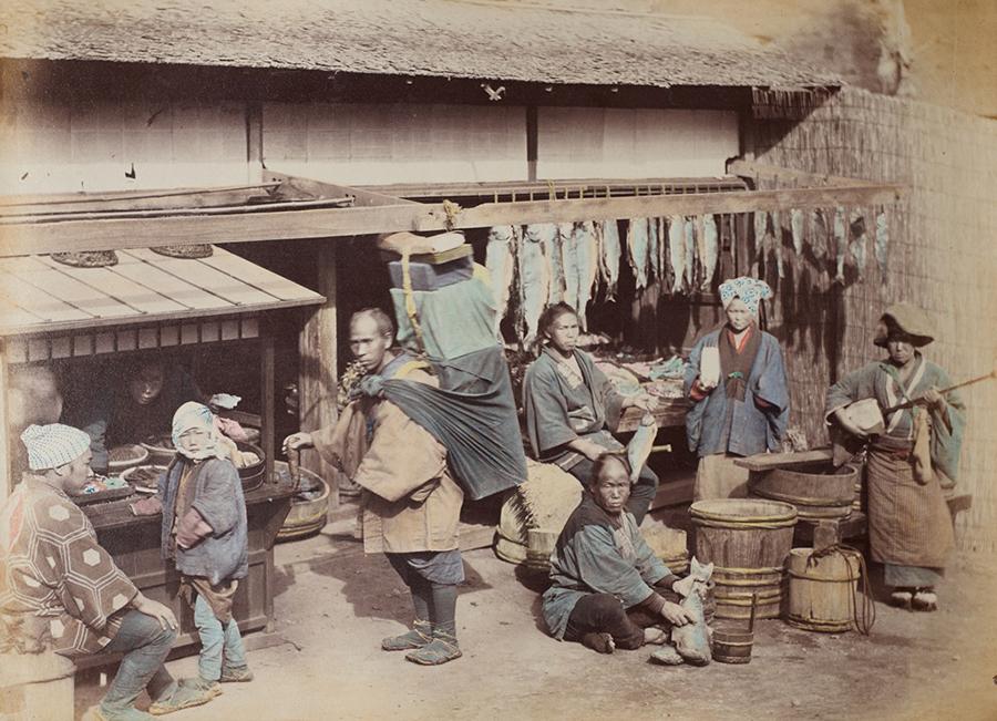 フェリーチェ・ベアト 魚売り 1867年