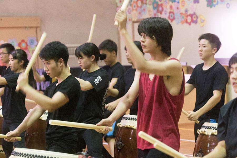 里糸田町の「和太鼓たぎり」の協力のもと、撮影した太鼓のシーン。(C)2020『夏、至るころ』製作委員会