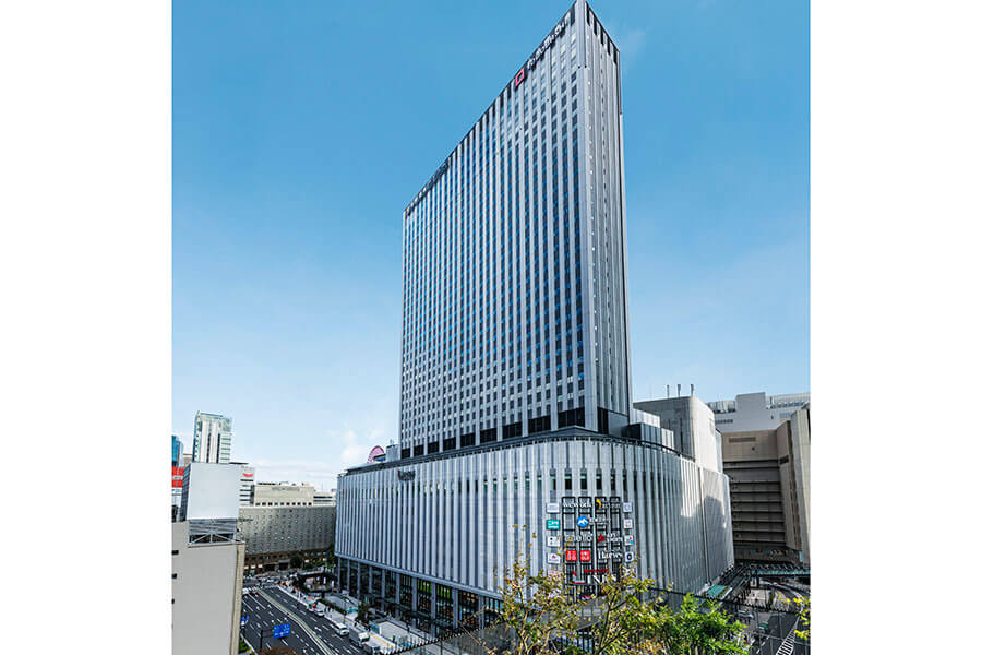 商業施設リンクス梅田の上層階に位置する「ホテル阪急レスパイア大阪」