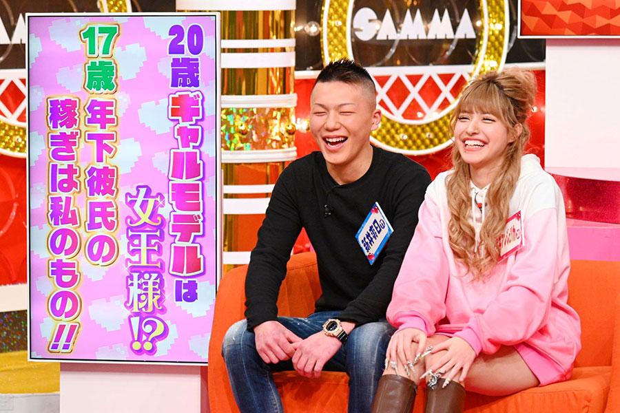 ギャル雑誌モデルの今井アンジェリカ(右)と彼氏の新井爽日(そうひ)さんカップル(写真提供:MBS)