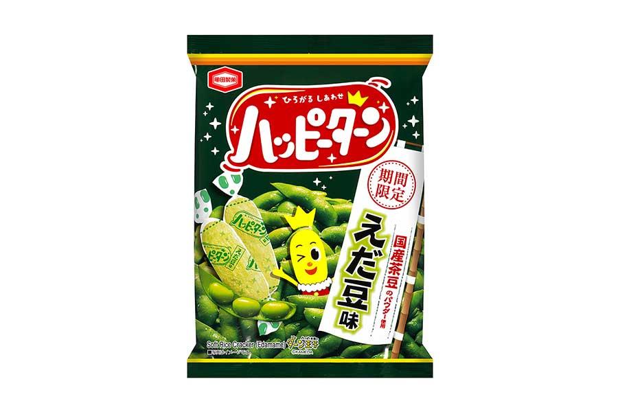 菓子メーカー「亀田製菓」が3月1日、人気スナック「ハッピーターン」の「えだ豆味」を発売