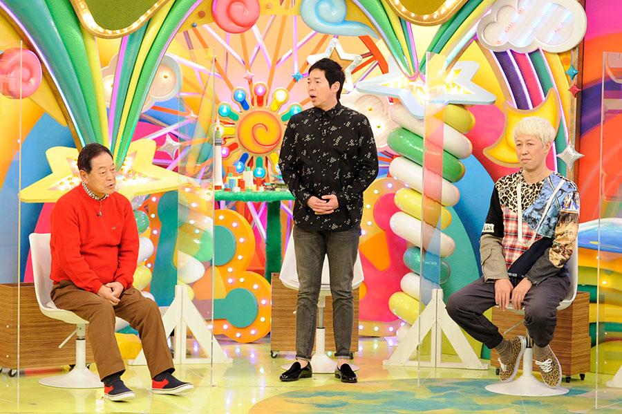 (左から)月亭八方、今田耕司、小籔千豊 (C)ABCテレビ