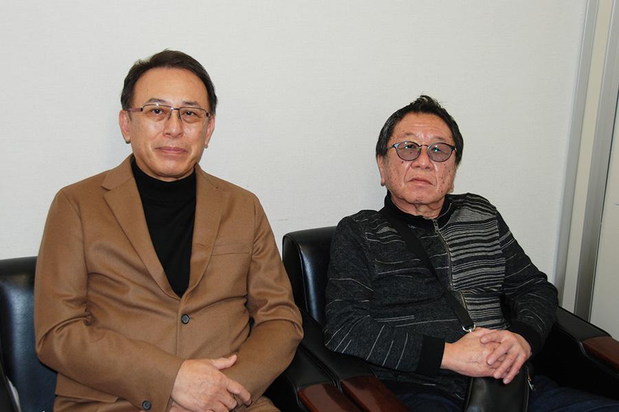 左から、在宅医師として活躍する長尾和宏先生、高橋伴明監督