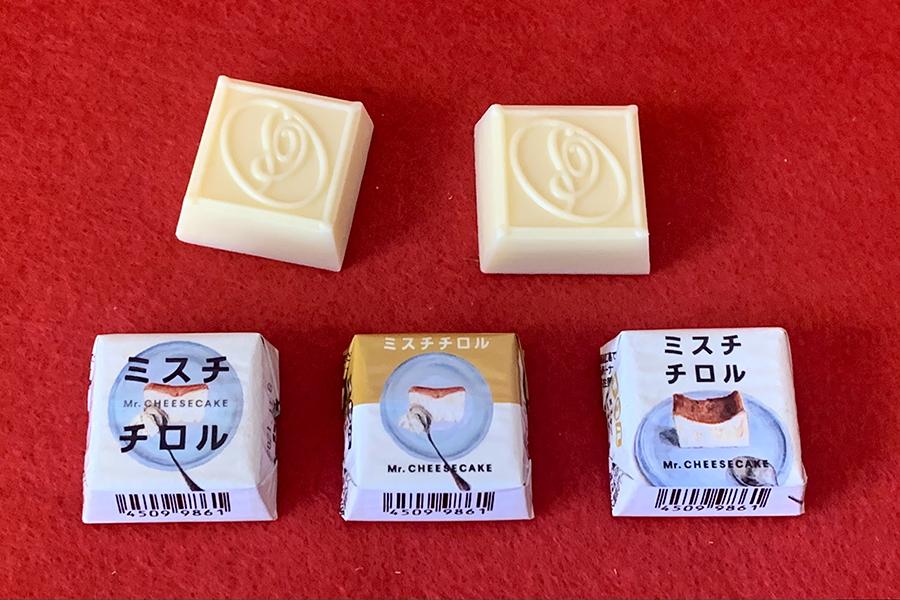アイスに先駆けて発売されたセブンイレブン限定の「チロルチョコ <ミスターチーズケーキ>」42円(税別)もしっかりチーズケーキ味でした!