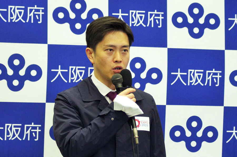 「宣言の延長はやむを得ない」と吉村洋文知事(2月1日・大阪府庁)