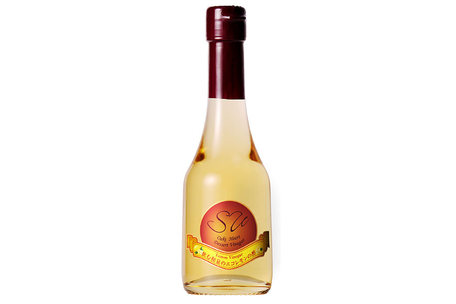 飲む和泉のエコレモンの酢1512円・地階オークスハートで販売